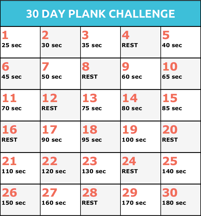 2015 30 Day Challenges | New Calendar Template Site